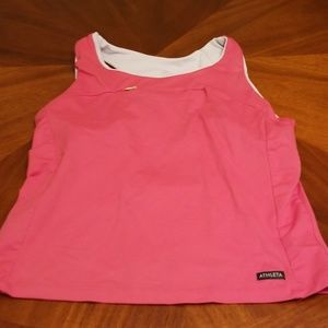 Athleta pink back pouch tank top C331:7:719